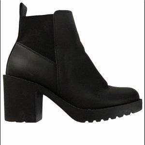 H&M Faux Leather Boots Platform Ankle Booties NWOT Y2K